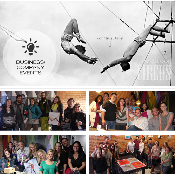 Host a Business, Company or Corporate Event at Upstairs Circus in LoDo Denver, CO