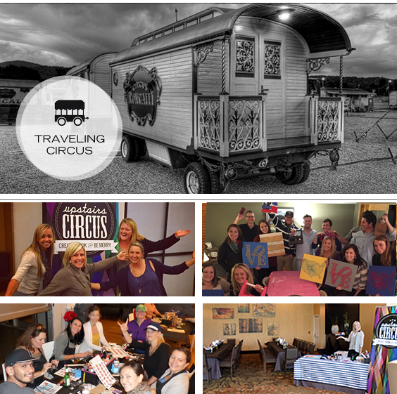 Bring the party to you! Upstairs Circus Traveling Circus will bring Pinterest Parties to your home or business!