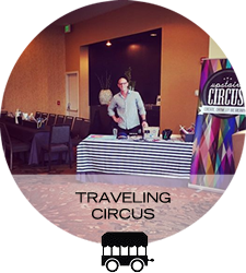 Bring the party to you! Host an Upstairs Circus event at your space with the Traveling Circus!