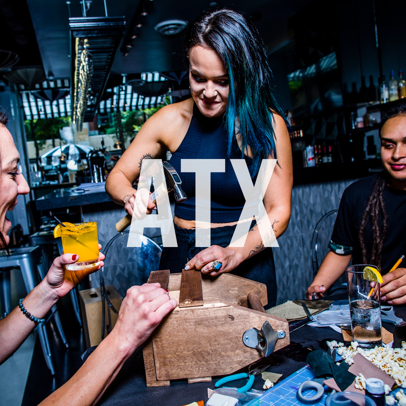 Make DIY Craft Projects and Enjoy Cocktails at Upstairs Circus Austin - Where DIY Workshop meets Bar