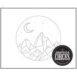 Night Mountain Design - Upstairs Circus Distressed Wood Art Kit