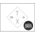 2 Arrow Sign Design - Upstairs Circus Distressed Wood Art Kit
