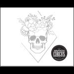 Tri Skull Flowers Design - Upstairs Circus Distressed Wood Art Kit