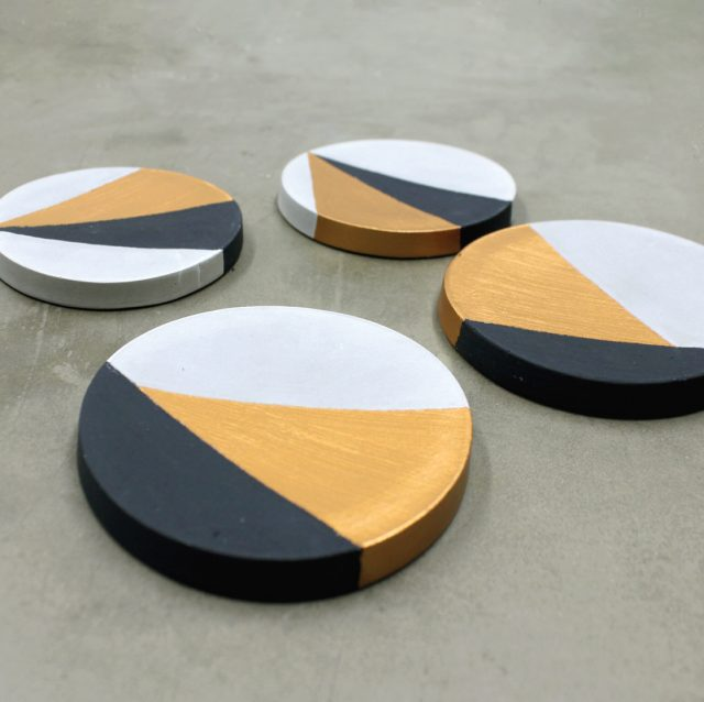 Color Block Concrete Coasters from Upstairs Circus